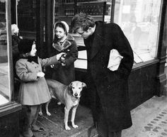 Aww James Dean talking to two little girls