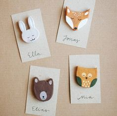 DIY Woodland Creature Favors (Oh, glücklicher Tag!) - New Ideas Diy For Kids, Crafts For Kids, Arts And Crafts, Paper Crafts, Air Dry Clay Ideas For Kids, Cardboard Crafts, Fabric Crafts, Polymer Clay Crafts, Diy Clay