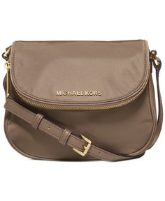 MICHAEL Michael Kors Bedford Nylon Flap Crossbody - Crossbody & Messenger Bags - Handbags & Accessories - Macy's