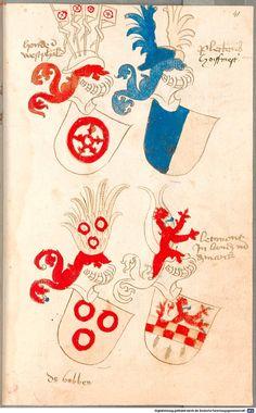 Bruderschaftsbuch des jülich-bergischen Hubertusordens Niederrhein, um 1500 Cod.icon. 318  Folio 41r