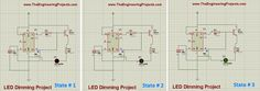 led dimming project using 555 timer in Proteus ISIS