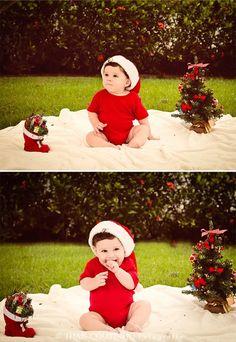 baby boy christmas photo shoot