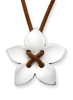 Flower on Leather Necklace | James Avery