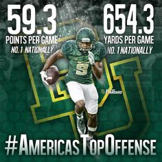 The numbers don't lie. #Baylor is America's top offense. Via @BUFootball on Twitter.