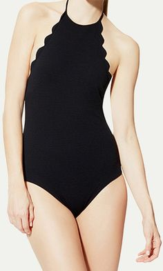 scalloped one-piece//