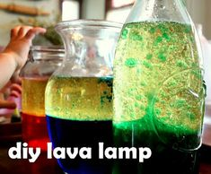 Make a Lava Lamp Science Experiment for preschoolers! Bubbly fun!