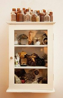 treasures cabinet. have started a variation of this in my room. My kids need this for all their little treasures.