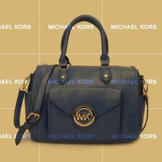 You Will Never Leave Michael Kors Fulton Logo Large Blue Satchels Once You Decide To Be With It!