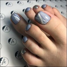 27 Adorable Easy Toe Nail Designs 2020 – Simple Toenail Art Designs : Page 4 of 25 : Creative Vision Design - 27 Adorable Easy Toe Nail Designs 2020 – Simple Toenail Art Designs : Page 4 of 25 : Creative Vis - Pretty Toe Nails, Cute Toe Nails, My Nails, Pretty Toes, Simple Toe Nails, Blue Nails, Toenail Art Designs, Toe Designs, Fall Toe Nail Designs