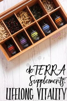 Lifelong Vitality Supplements are whole food vitamins created by doTERRA and made for YOUR body! They're formulated to help your body be its best every day.