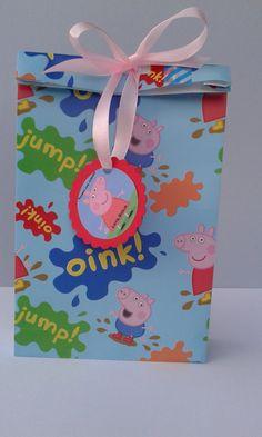 Busta confetti/Peppapig/Thanks for coming/Tag di ingraziamento/Sacchetto per confetti/omaggio ospiti/1 sacchetto portaconfetti di Peppa pig