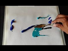 Abstract painting / Easy blending in Acrylics / Demonstration - YouTube
