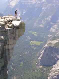 I've been here. It's a beautiful place and the view is incredible from up there. Half Dome. 30 feet of rock, 3,000 feet of air