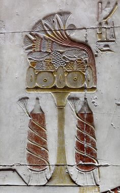 'Offerings in Inner Osiris Hall at Egyptian Temple in Abydos'. Old Egypt, Egypt Art, Ancient Egyptian Art, Ancient History, Egyptian Temple, Egyptian Beauty, Egyptian Symbols, Temples, Fresco