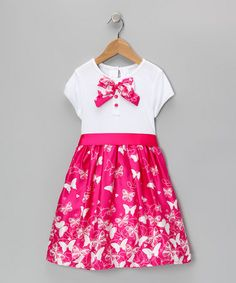Take a look at this Pink & White Sophie Dress - Toddler & Girls by Joe-Ella on #zulily today!