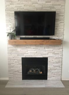 Fireplace Mantel // Mantel // Rustic Wood Mantel // Custom Mantel // Modern Rustic Mantel // Rustic Mantel // Contemporary Mantel - We offer two different styles of Made to order Fireplace Mantels; Modern Rustic and Contemporary Ru - Home Fireplace, Fireplace Remodel, Brick Fireplace, Living Room With Fireplace, Fireplace Design, Custom Fireplace, Fireplace Ideas, Airstone Fireplace, Mantel Ideas