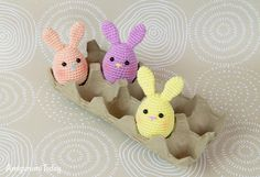 Amigurumi Easter bunny egg crochet pattern by Amigurumi Today