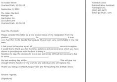 Is Recommended Send A Two Weeks Notice Letter Employer Good Terms