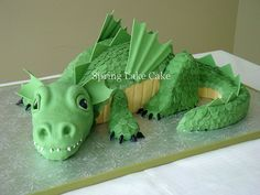dragon cakes | dragon cake dragon cake that i donated for our cubscout blue and gold ...