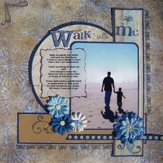 """Walk with me"" Love the vellum poem laid overtop the photograph white space."