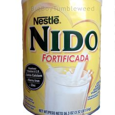 Nestle NIDO Fortificada 3.52 lb can dried whole milk Vitamin A C D powdered dry #Nestle #BigBoyTumbleweed
