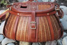Vintage Turtle Style Fishing Creel by Lost River Leather