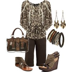 Browns, created by tammietoo2 on Polyvore