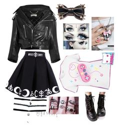 """""""Pastel Goth [SET 7]"""" by bakagee ❤ liked on Polyvore featuring Retrò and Balenciaga"""