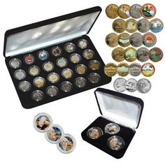 2004-2006 Ultimate Commemorative Nickel Collection by First Commemorative Mint. $39.95. The complete set of the new 2004, 2005 and 2006 commemorative Nickels, in the four popular versions:. 24K gold-plated, platinum-plated, gold-plated hologram, and colorized. The complete set of the new 2004, 2005 and 2006 commemorative Nickels, in the four popular versions: 24K gold-plated, platinum-plated, gold-plated hologram, and colorized. In addition, the collection comes w...