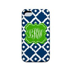 Personalized Monogram Cell Phone Case- iphone 4, 3G, Ipod, blackberry,... ❤ liked on Polyvore