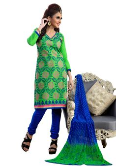 #Green #Blue #Dresmaterail #Casualwear #Officewear #Occasionalwear buy at salwarstudio.com