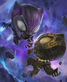 Chibi Black Panther vs Golden Jaguar posted by kuchu pack Chibi Marvel, Marvel Dc Comics, Marvel Heroes, Marvel Avengers, Black Panther Art, Black Panther Marvel, Marvel Comic Universe, Marvel Cinematic Universe, Marvel Characters