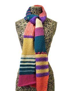 Ravelry: Ultimate Tunisian Crochet Sampler Scarf pattern by Hayley Joanne Robinson