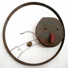 Homme dans un cercle - (wheel man)  Christian  Voltz