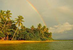 Double Rainbow. Rincon, Puerto Rico.