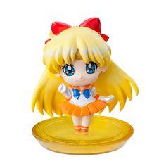 Sailor Venus! Japanese Petit Chara Sailor Moon Disk Models / Figures! Buy here! http://www.moonkitty.net/buy-bandai-tamashii-nations-sailor-moon-sh-figuruarts-figures-models.php #SailorMoon