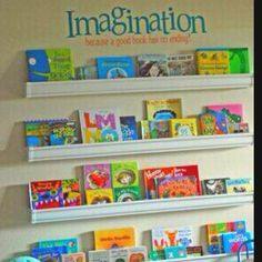 On the wall custom bookshelf