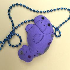 Manatí bordado mano fieltro peluche ornamento ~ hecho por encargo