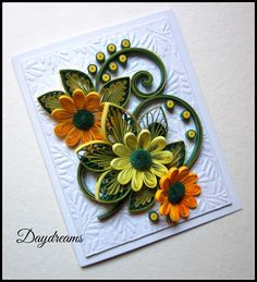 Paper Quilling Designs, Quilling Paper Craft, Quilling 3d, Quilling Flowers, Quilling Patterns, Paper Flowers, Paper Crafts, Quilled Creations, Paper Magic
