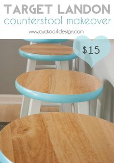transform the cheap Target Landon counterstool with this easy makeover