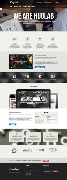 Huglab – Responsive Multi-Purpose Theme #Wpthemes #wordpressthemes2014
