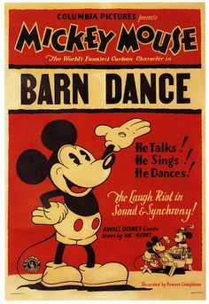 Barn Dance, 1929    		Copyright Walt Disney Corporation.