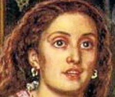 """Annie Miller, en el controvertido cuadro, """"the Awakening"""", Holman Hunt la tenia como pupila con el fin de casarse con ella, pero fue un escándalo en la época el cuadro tan evidente"""