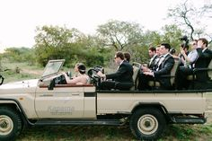 Zoe and Myles South African Luxury Safari Wedding, Groomsmen, Safari Car, Africa, Wedding, cocktail hour Julia Winkler Photography, absolute Perfection Wedding Coordination