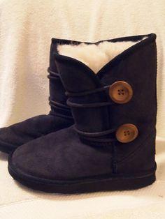 Ukala Boots Size K1 Navy Blue Suede Merino Wool Lining  #Ukala #Boots