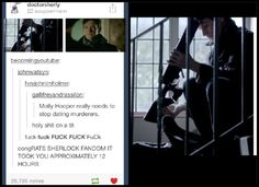 And that's probably the Sherlock lookalike Moriarty used to scare the little girl so she screamed when she saw Sherlock <<<<<<<< this.