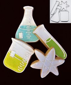 science lab cookie cutters. These would be cute for a science teacher.