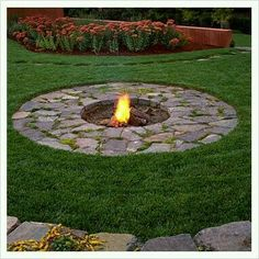 Image result for paver patios with sunken fire pits