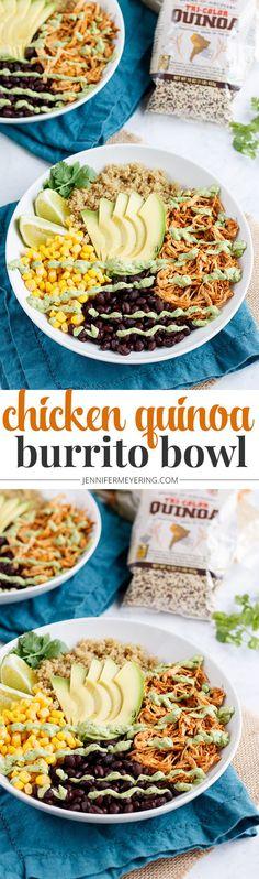 Chicken Quinoa Burrito Bowl - JenniferMeyering.com