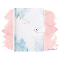 Planner binder A6/personal blue watercolor at TanyaBrittany shop